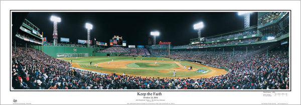 "Fenway Park ""Keep the Faith"" (2004 World Series Game 1) Panoramic Poster Print - Everlasting"