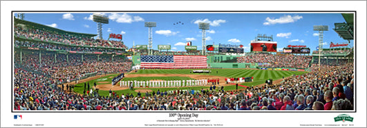 Fenway Park 100th Opening Day Boston Red Sox Panoramic Poster (4/13/2012) - Everlasting Images