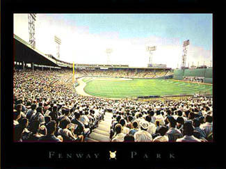Fenway Park Classic Boston Red Sox Game Night Premium Poster Print - ISI 2002