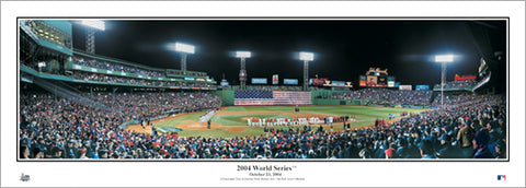 Boston Red Sox Fenway Park 2004 World Series Game Night Panoramic Poster Print - Everlasting Images Inc.