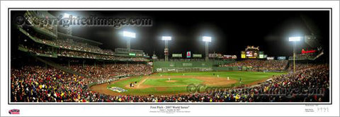 Boston Red Sox Fenway Park First Pitch 2007 World Series Panoramic Poster Print - Everlasting Images