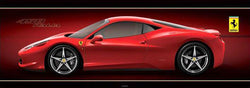 Ferrari 458 Italia HUGE Wall-Sized Autophile Profile Poster - Pyramid International