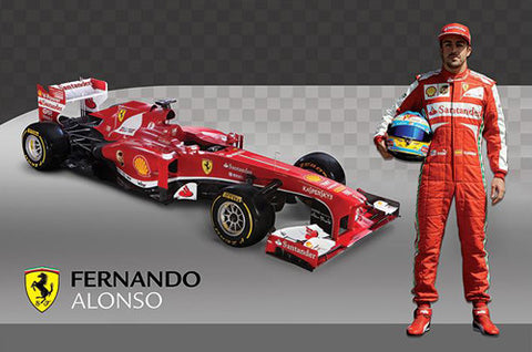 Ferrari F14-T Fernando Alonso Formula One Racing Poster - Pyramid International 2014