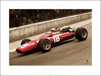 "Ferrari 312 F1-67 ""Bandini at Monaco"" Print - Pyramid (UK)"