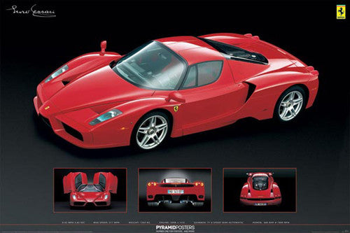 "Ferrari Enzo ""4-Shot"" Automotive Poster - Pyramid 2009"