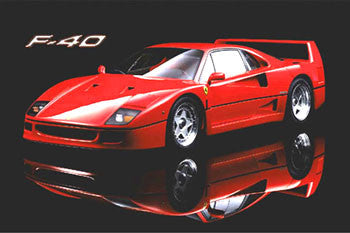 "Ferrari F40 ""Reflection"" Autophile Profile Poster - Wizard & Genius"