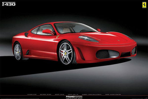 "Ferrari F430 ""Moonrise"" Automotive Poster - Pyramid Posters"
