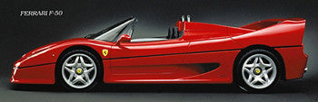 Ferrari F50 (1995) Classic Automotive Poster - Eurographics Inc.