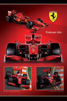 Ferrari F60 Formula One 2009 Official Poster - Pyramid