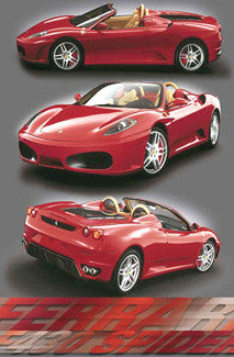 "Ferrari F430 Spider ""Triple Action"" Poster - Wizard & Genius 2005"