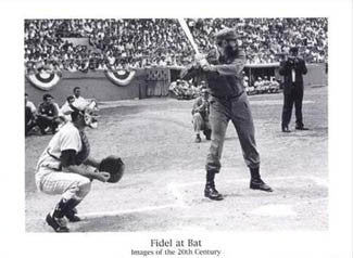 "Fidel Castro Playing Baseball ""Fidel at Bat"" Poster - Image Source International"