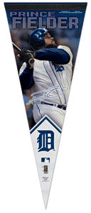 "Prince Fielder ""Signature"" Detroit Tigers Premium Felt Collector's Pennant - Wincraft"