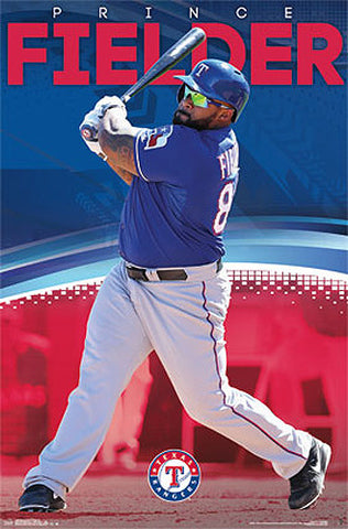 "Prince Fielder ""Power"" Texas Rangers MLB Action Wall Poster - Costacos 2014"