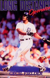"Cecil Fielder ""Long Distance Operator"" Detroit Tigers Poster - Costacos 1990"
