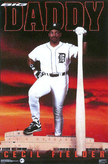"Cecil Fielder ""Big Daddy"" Detroit Tigers Poster - Costacos 1992"