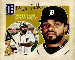 "Prince Fielder ""Retro SuperCard"" Poster - Photofile 16x20"