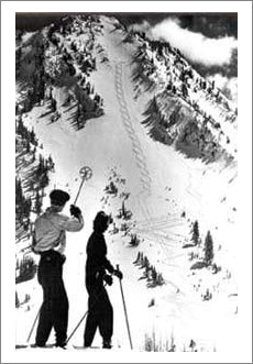 Classic Figure 8 (1940s) Vintage Skiing Poster Reprint - Mountain Chalet