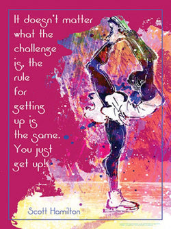 "Figure Skating ""Just Get Up!"" (Scott Hamilton Quote) Motivational Poster - Jaguar"