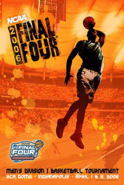 NCAA Men's Basketball Final Four 2006 Indianapolis Official Action Design Poster - Action Images Inc.