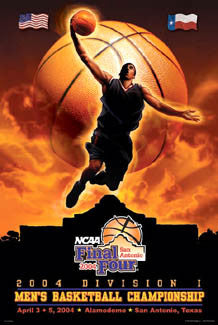 NCAA Men's Basketball Final Four 2004 Official Poster - Action Images Inc.