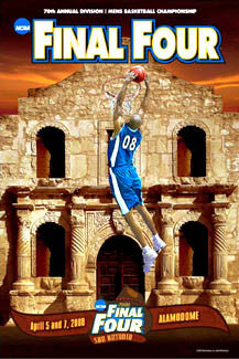 NCAA Men's Basketball Final Four 2008 Official Poster - Action Images Inc.