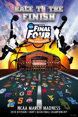 NCAA Men's Basketball Final Four 2010 Official Poster (64-Team Field) - ProGraphs