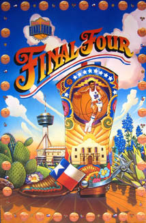 NCAA Men's Basketball Final Four 1998 Official Event Poster - Action Images Inc.