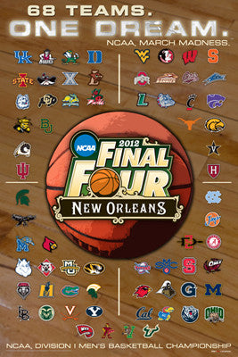 NCAA Men's Basketball March Madness 2012 Official Poster (68-Team Field) - ProGraphs
