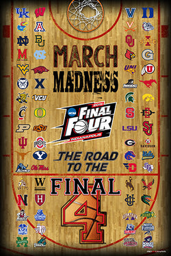 NCAA Men's Basketball March Madness 2015 Official Poster (68-Team Field) - ProGraphs