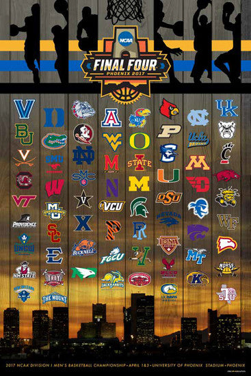 NCAA March Madness 2017 Men's Basketball Championships Official Poster (68-Team Field) - ProGraphs