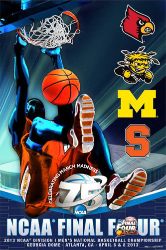 NCAA Men's Basketball Final Four 2013 Official Poster (4 Finalists) - ProGraphs