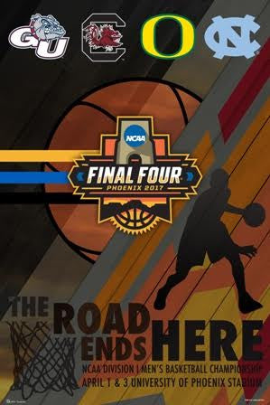 NCAA March Madness 2017 FINAL FOUR Official Poster - ProGraphs Inc.