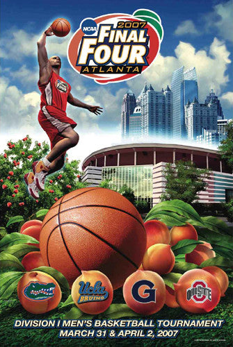 NCAA Men's Basketball Final Four 2007 Official Event Poster - Action Images Inc.