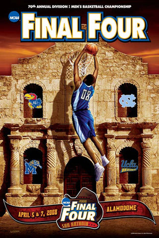 "NCAA Men's Basketball Final Four 2008 ""Four Logos"" Official Poster - Action Images"