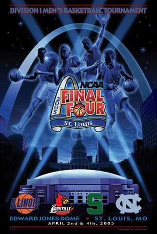 "NCAA Men's Basketball Final Four 2005 ""Four Logos"" Official Poster - Action Images"
