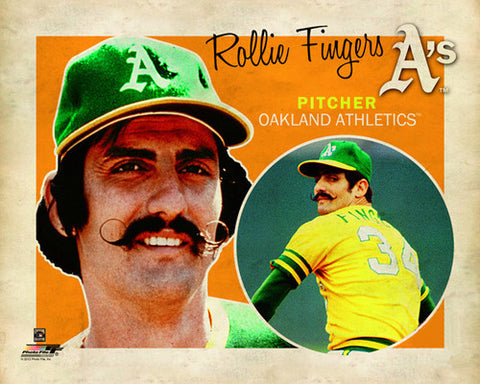 "Rollie Fingers ""Retro SuperCard"" Oakland A's Poster - Photofile 16x20"