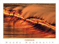 "Surfing ""Firewave"" Ocean Wave Poster Print - Creation Captured"
