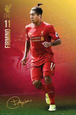 "Roberto Firmino ""Signature Series"" Liverpool FC Official EPL Football Poster - GB Eye 2016/17"