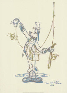 """How to Fish"" (Fisherman Goofy) Animation Cel Print - McGaw Graphics"