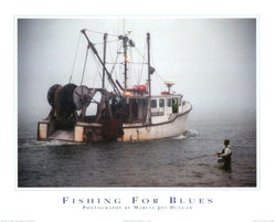 Fishing For Blues Poster Print by Marcia Joy Duggan - Image Source Inc.