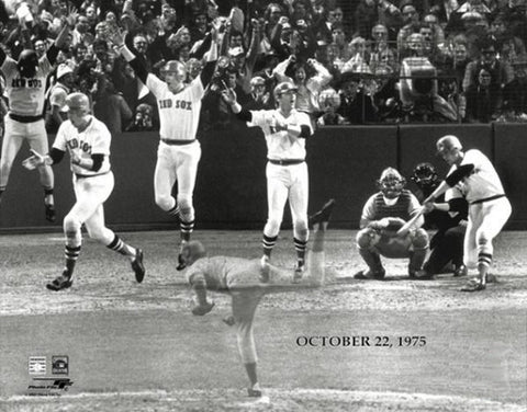 Carlton Fisk 1975 World Series Homer Boston Red Sox Premium Poster Print - Photofile