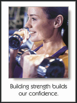 "Women's Free Weights ""Building Strength"" Motivational Poster - Fitnus Corp."