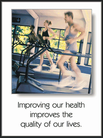 "Cardio Fitness ""Improving our Health"" Motivational Poster - Fitnus Corp."