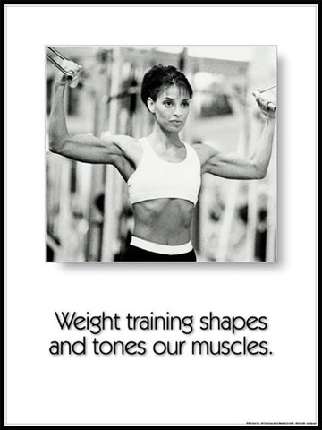 "Women's Fitness ""Shapes and Tones"" Motivational Poster - Fitnus"