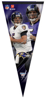 "Joe Flacco ""Big-Time"" EXTRA-LARGE Premium Felt Pennant - Wincraft"