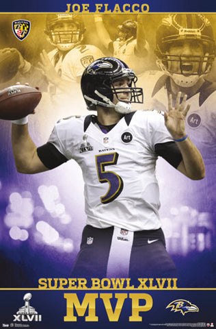 Joe Flacco Super Bowl XLVII MVP (2013) Commemorative Poster - Costacos