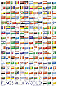 Flags of the World Wall Chart Poster - GB Eye Ltd.
