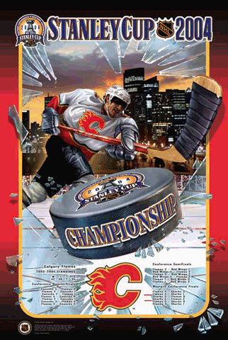 "Calgary Flames ""Road to the Cup"" 2004 Western Conference Championship Poster - Action Images"