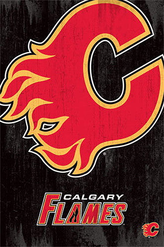 Calgary Flames Official NHL Hockey Team Logo Poster - Trends International