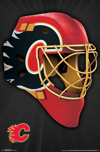 "Calgary Flames ""Mask"" NHL Hockey Official Team Logo Theme Wall POSTER - Trends 2016"